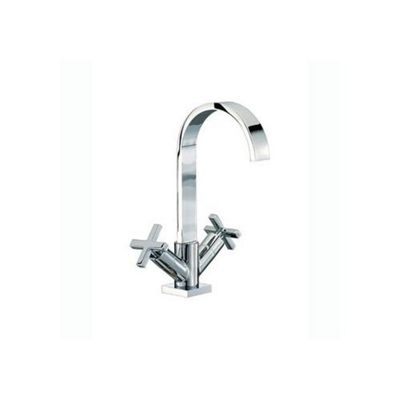 Mayfair Surf Mono Basin Mixer Tap with Pop Up Waste, Chrome