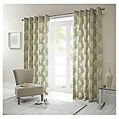 """Woodland Eyelet Curtains W168xL137cm (66x54"""") - Green"""