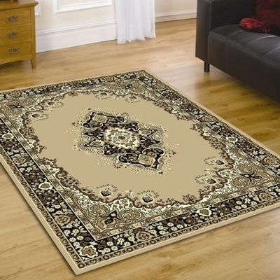 Home Essence Element Lancaster Beige Contemporary Rug - 320cm x 220cm (10 ft 6 in x 7 ft 2.5 in)