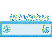 Welcome Baby Boy Giant Personalised Letter Banner
