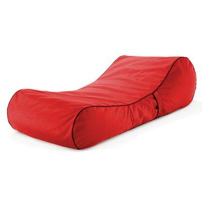 Loft 25 Water Resistant Bean Bag Sun Lounger - Red