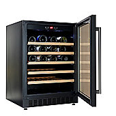 Cookology CWC600BK Black 60cm Wine Cooler | 54 Bottle Capacity Undercounter or Freestanding Fridge