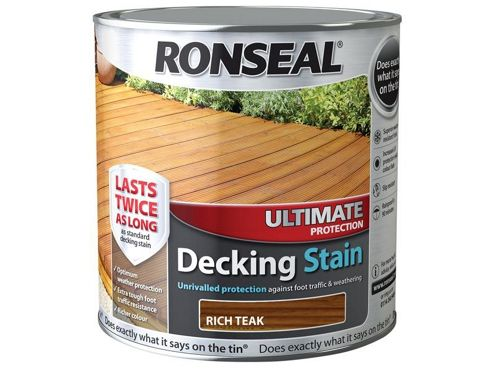 Ronseal Ultimate Protection Decking Stain Rich Teak 2.5 Litre RSLUDSRT25L