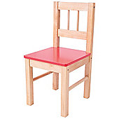 Bigjigs Toys Children's Wooden Red Chair - Bedroom Furniture and Accessories