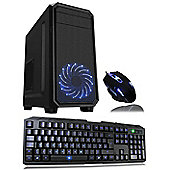 Cube Nexus AMD Quad Core Minecraft Gaming PC with Keyboard & Mouse 4GB RAM WIFI 1TB Hard Drive GeForce GTX 1050 2GB Graphics Win 10