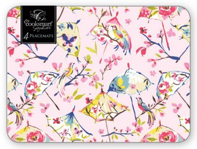 Cooksmart Paradiso Birds of Paradise Placemats, Set of 4