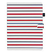 "10"" Universal Red, Blue & White Stripe 360 Rotational Case Cover"