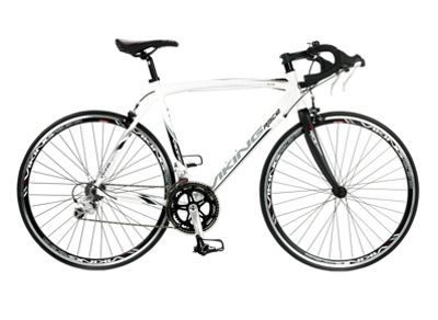 56cm Viking Elite 18-Speed STI 700c Wheel Mens' Bike, White