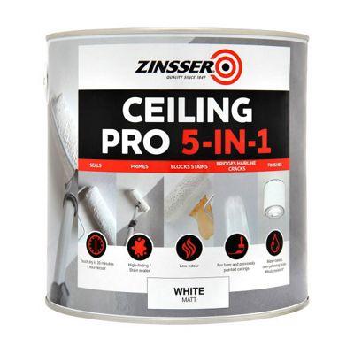 Zinsser Ceiling Pro - 5 in 1 - 2.5 LITRE