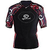 Optimum Razor Rugby Body Protection Black/Red - M