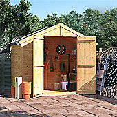 BillyOh Master Tongue and Groove Apex Wooden Garden Shed - 4 x 8 Windowless