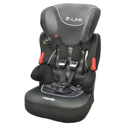 Nania Beline SP High Back Booster Car Seat with harness, Group 1-2-3, Graphic Black