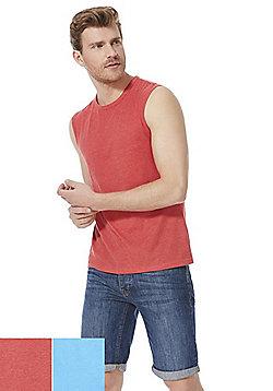 F&F 2 Pack of Plain Vest Tops - Multi
