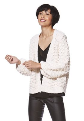 Only Textured Knit Cardigan Cream M