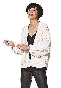 Only Textured Knit Cardigan - Cream