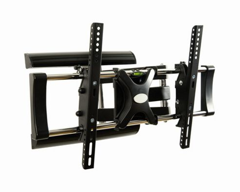 LEVV LEVV Double Stud Steel Solid Articulating Wall Mount for 32-50 LCD's