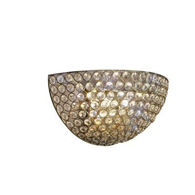 Ava Wall Lamp Circular 2 Light French Gold/Crystal