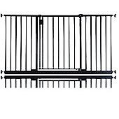 Safetots Extra Wide Hallway Gate Black 140cm - 146cm
