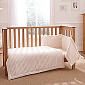 Clair de Lune 3pc Cot Bed Bedding Set (Marshmallow Cream)