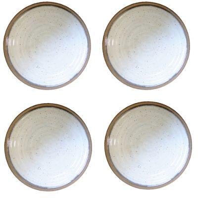 Epicurean Natural Alfresco 26.5cm Melamine Dinner Plates, Set of 4