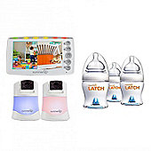 Summer Infant 2 Camera Baby Monitor & Free Munchkin Latch Bottles (3 Pack)