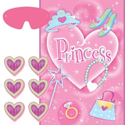Princess Party Pin The Heart Game