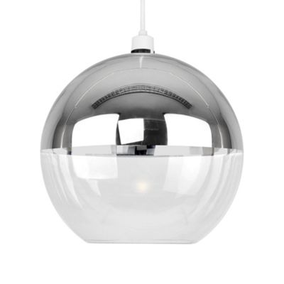 Buy Modern Globe Ceiling Pedant Shade Clear And Mirrored