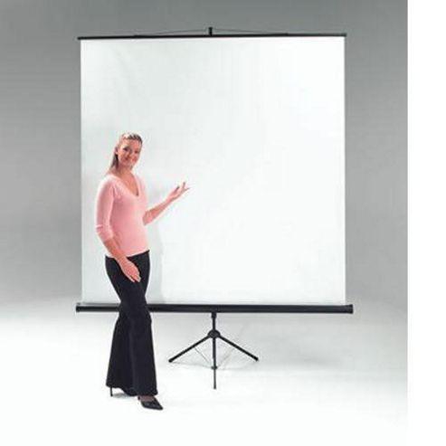 Metroplan Budget Tripod Portable Projection Screen 125cm Wide