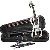 Stagg EVN X Electric Violin Outfit - White