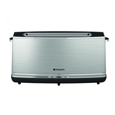 Hotpoint TT12EAXOUK  1000W Long Slot Digital Toaster – Silver
