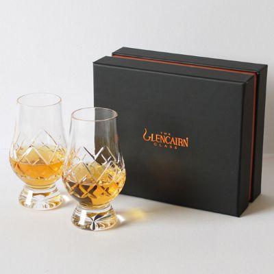 Glencairn Crystal Cut Classic Whisky Tasting Glasses in Presentation Box | Set of 2 | 170ml