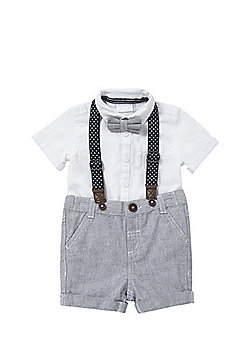 F&F Bow Tie, Shirt and Shorts Set - Multi