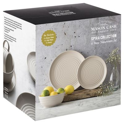 Mason Cash Spira Taupe 12pc Dinner Set