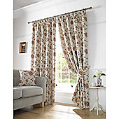 Worcester Pencil Pleat Lined Curtains - Terracotta
