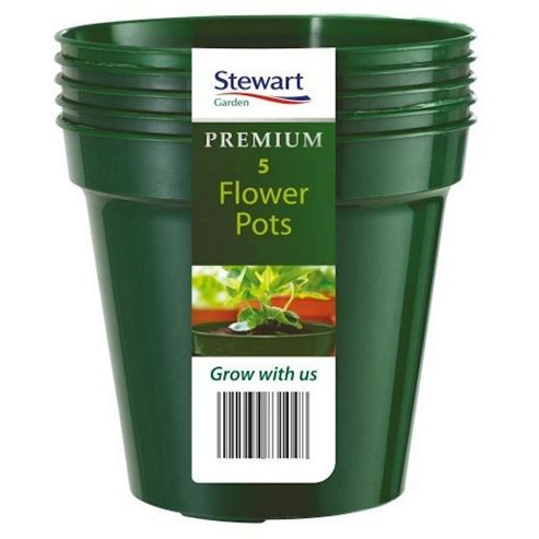 buy stewart garden 10 flower pots green 4830004. Black Bedroom Furniture Sets. Home Design Ideas