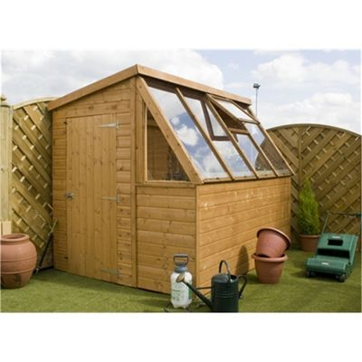 8 x 6 Sutton Premier Potting Shed + Free Potting Bench Garden Wooden Shed 8ft x 6ft (2.44m x 1.83m)