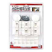 Magnetic Cupboard Locks Adhesive/Screw Fit (1 Key - 6 Locks)