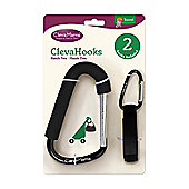 Clevamama Clevahooks 2 Pack Heavy Duty 200kg Buggy Clip Pushchair Stroller Hook