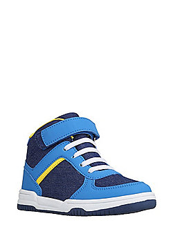 F&F Denim High Top Trainers - Blue
