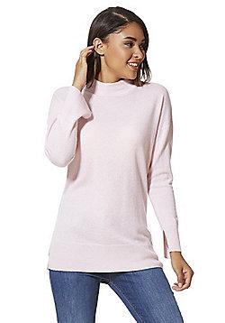 F&F Turtleneck Cashmere Jumper - Light pink