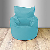 Children's 100% Cotton Twill Pre-Filled Bean Chair, Turquoise