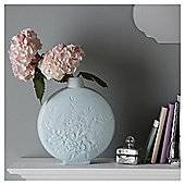 Fox & Ivy Blue Floral Ceramic Vase