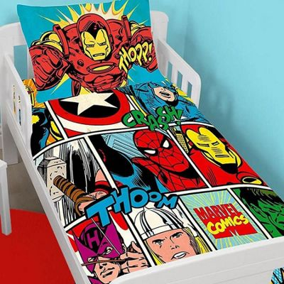 Marvel Avengers Bundle   Toddler Bedding, Curtains 72s And Fleece Blanket