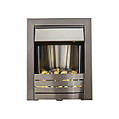 Adam Helios Brushed Steel Electric Inset Fire