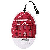 Red Town Scene Christmas Gift Tags, 3 pack