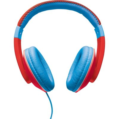 Trust Wired Stereo Headphone - Over-the-head - Circumaural - Red
