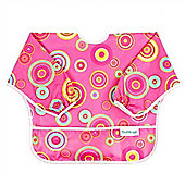 Bumkins Waterproof Sleeved Bib (Pink Circles)