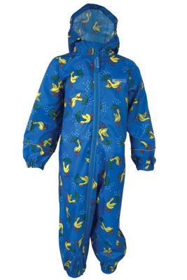 Puddle Kids Boys Girls Toddler Hooded Waterproof Rain Full Body Rainsuit