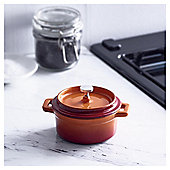 Go Cook Cast Iron Single Serve Casserole Orange