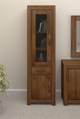Baumhaus CWC01C Mayan Walnut Narrow Bookcase